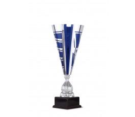 Copa de diseño azul en metal